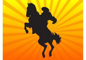 Silhueta de cowboy