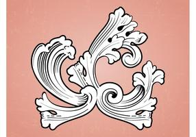 Ornamento Vector Antiguo