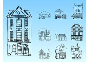 Esboços de edifícios