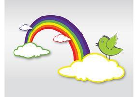 Regenbogen-Karikatur