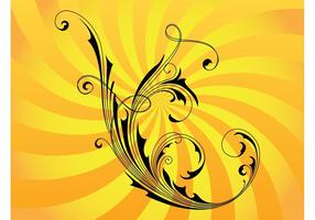 Swirly Vector Flower