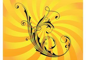 Swirly vector de la flor