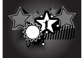 Diseño fresco de la estrella