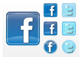 Facebook Twitter Vectores