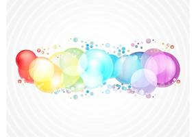 Bolhas de cor do arco-íris
