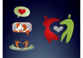 Kärlek Logos