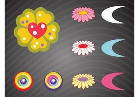 Elementos gráficos de colores vectoriales