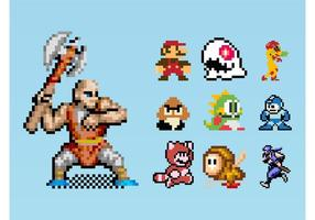 8-Bit Gaming Characters vector