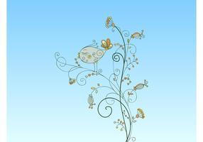 Pássaro de flor