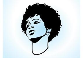 Menina com cabelo Afro
