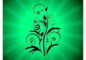 Libre de composición floral del vector