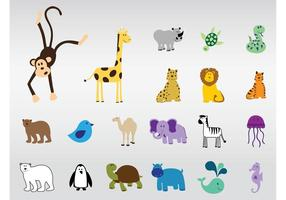 Vector lindos animales