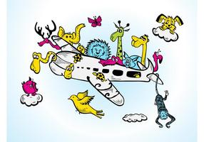 Animals-on-a-plane