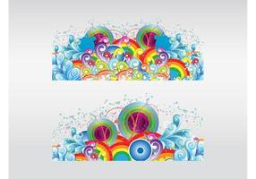 Bunte Design-Elemente