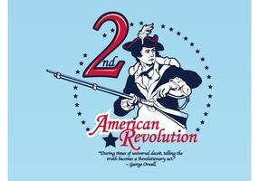 Amerikanische Revolution Vektor