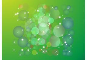 Vector de fundo de círculos verdes