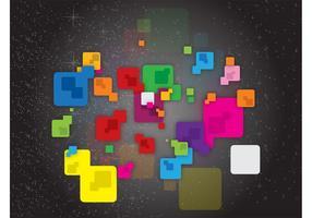 Färgglada kvadrater