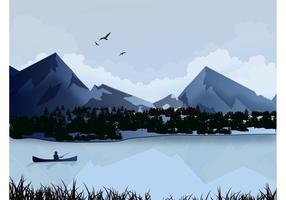 Sjö landskap