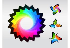 Färgrika logotyper