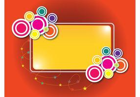 Colorful Label Template Vector