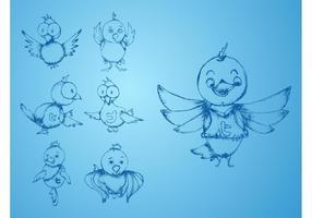 Pássaros de twitter