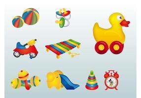 Färgglada leksaker