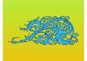 Swirly Floral Decoration