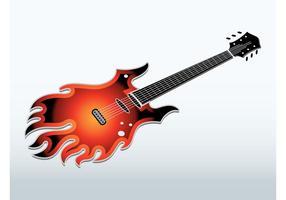 Flaming Electric Guitar