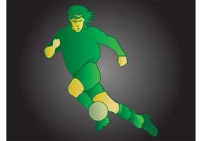 Jogador de futebol estilizado