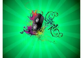 Musik-Lautsprecher-Vektor