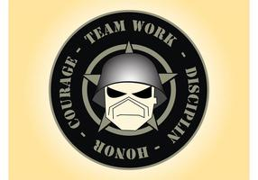 Logotipo do guerreiro vetor