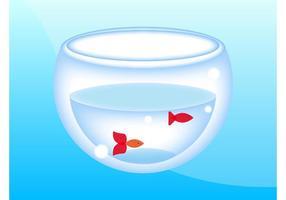 Vetor tigela de peixe