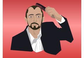 Mann Kämmen Haar