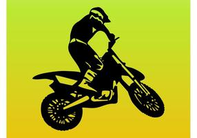 Man på motorcykel