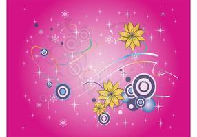 Neige et fleurs