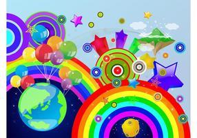 Färgglada världen