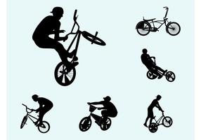 Biker silhuetter