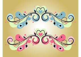 Decorações de coração
