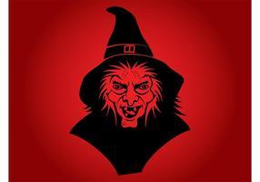 Vecteur de sorcière maléfique