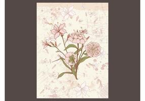 Tarjeta floral retra
