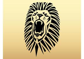 Tête de lion tribale