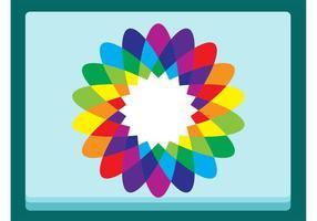 Vetor da flor do arco-íris