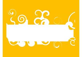 Banner With Swirls