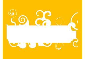 Banner With Swirls