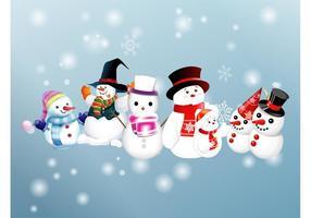 Vecteurs de bonhomme de neige
