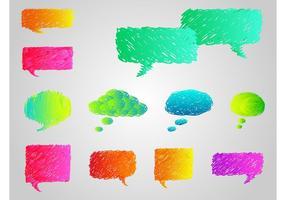 Colorido discurso burbujas