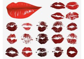 Imprimés de lèvres