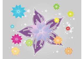 Flores coloridas brillantes