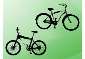 Fahrrad Silhouetten