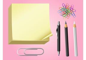 Office Supplies Vector Graphics